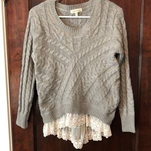 Grey Cabell knit sweater